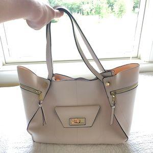 Cream colored purse